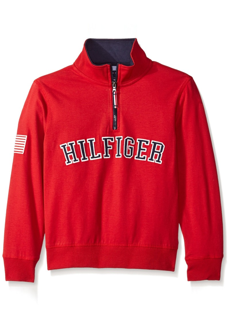 Tommy Hilfiger Big Boys' Half Zip Pullover Sweater