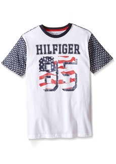Tommy Hilfiger Big Boys' Jackson Stars and Stripe Tee  Large