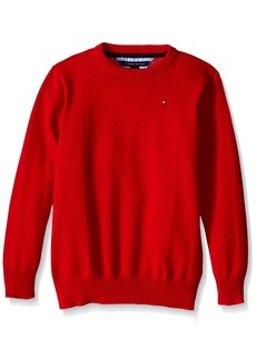 Tommy Hilfiger Big Boys' Long Sleeve Alan Crew Neck Sweater Bulls Eye Large