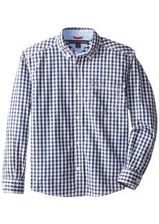 Tommy Hilfiger Big Boys' Long Sleeve Baxter Shirt Flag Blue X-Large
