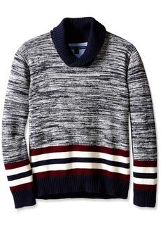 Tommy Hilfiger Big Boys' Long Sleeve Cowl Collar Sweater Swim Navy Medium
