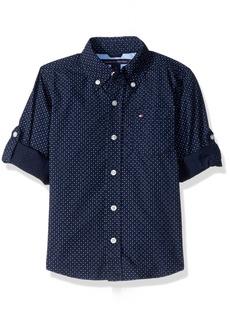 Tommy Hilfiger Big Boys Mini Stars and Dots Printed Shirt  Medium