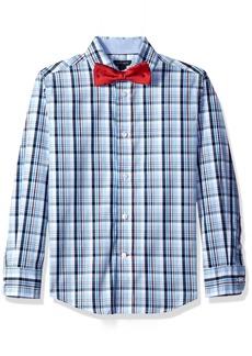 Tommy Hilfiger Big Boys' Plaid Shirt with Bow Tie