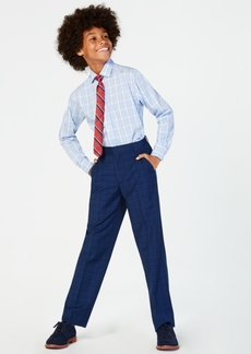 Tommy Hilfiger Big Boys Stretch Plaid Pants