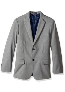 Tommy Hilfiger Big Boys' Stretch Sharkskin Jacket Light Grey