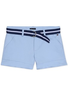 Tommy Hilfiger Big Girls Belted Twill Shorts