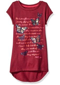 Tommy Hilfiger Big Girls Butterfly Script Tee  Small/7