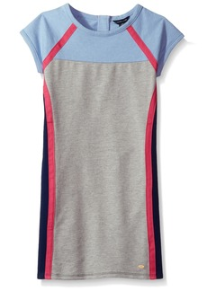 Tommy Hilfiger Girls' Big Colorblocked Dress Heathered rain