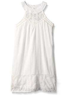 Tommy Hilfiger Big Girls' Crochet Pieced Dress  M8/10