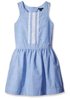 Tommy Hilfiger Big Girls' Crochet Trim Casual Dress  Medium ()