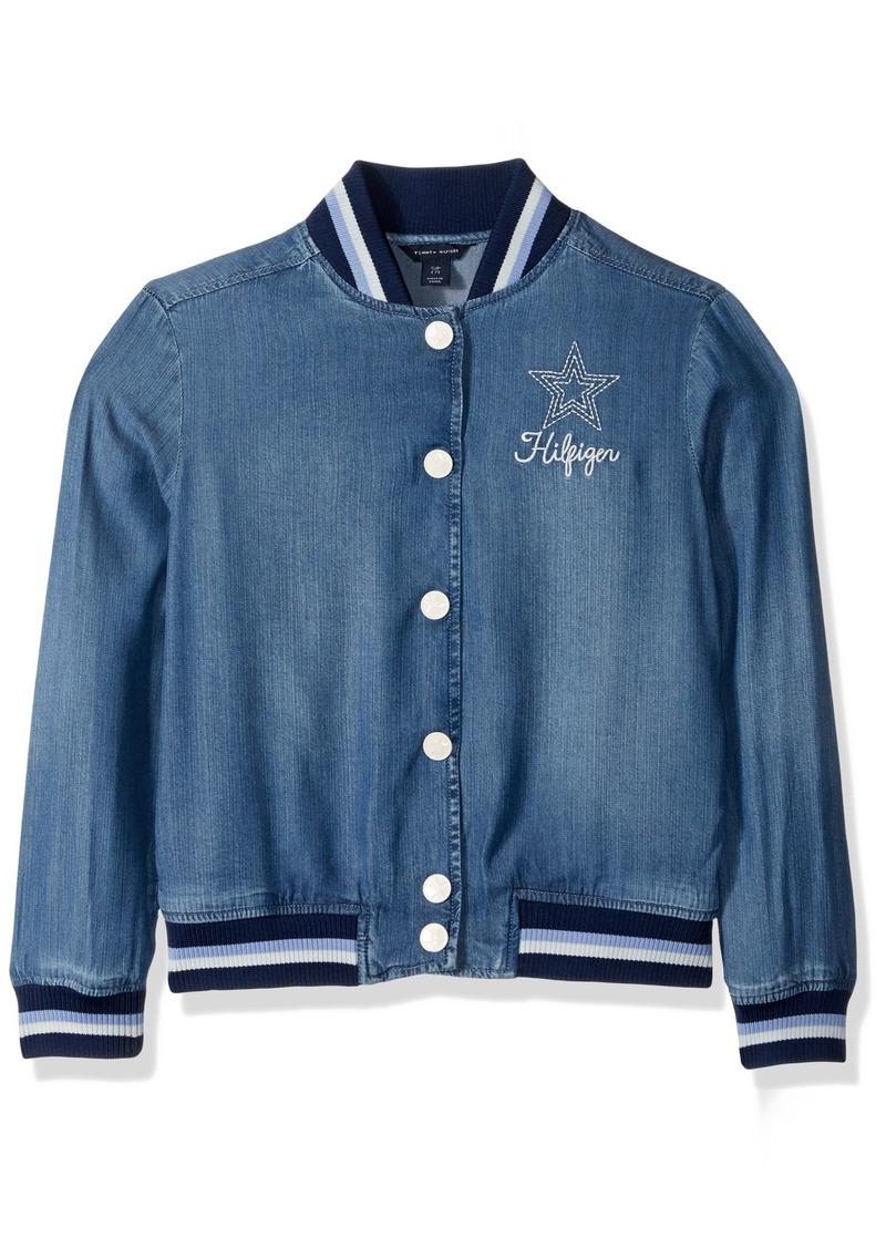 e9d49056d Big Girls' Denim Baseball Jacket Small