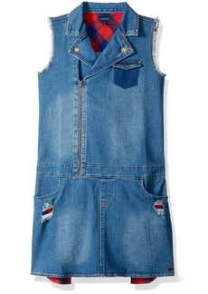 Tommy Hilfiger Big Girls' Denim Moto Dress
