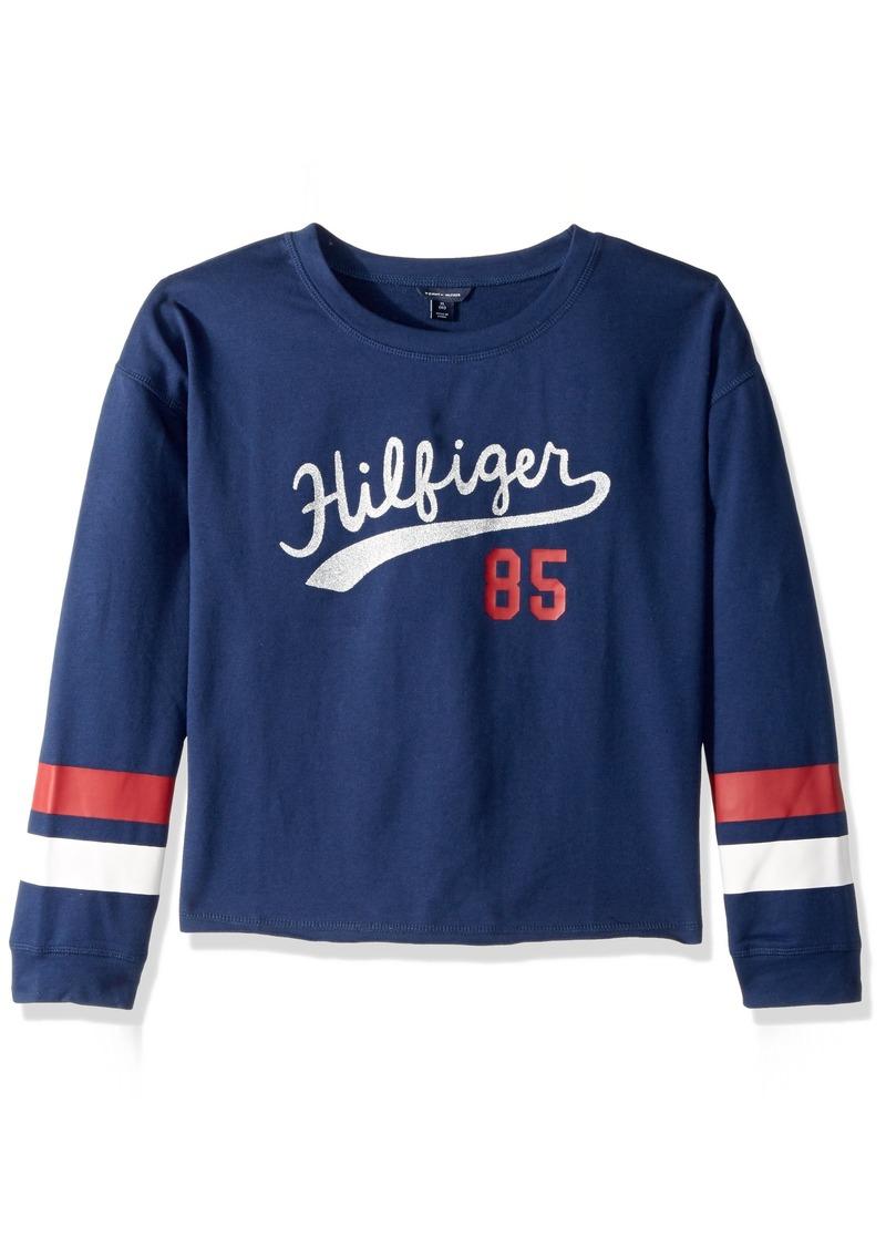 fdfe233cd Tommy Hilfiger Tommy Hilfiger Big Girls  Glitter Hilfiger Pullover ...