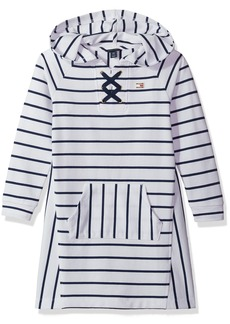 Tommy Hilfiger Girls' Big Hooded Sweatshirt Dress