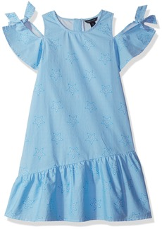 Tommy Hilfiger Girls' Big Ithaca Star Print Dress Azure Blue