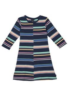 Tommy Hilfiger Girls' Big Multi-Stripe Split Dress