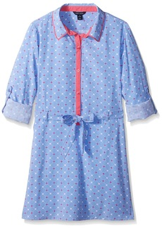 Tommy Hilfiger Big Girls' Printed Shirt Dress  L