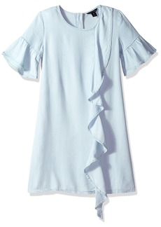 Tommy Hilfiger Girls' Big Ruffle Front Dress