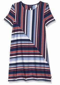 Tommy Hilfiger Big Girls' Short Sleeve Striped Dress   8/10