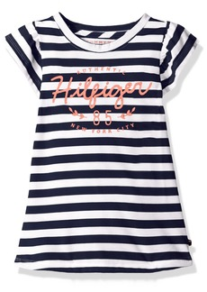 Tommy Hilfiger Girls' Big Signature Short Sleeve Tee
