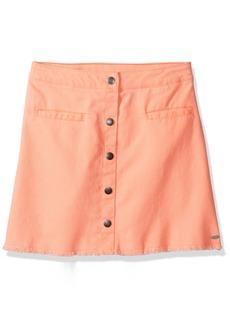 Tommy Hilfiger Big Girls' Snap Front Fray Skirt  L12/14