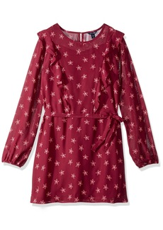 Tommy Hilfiger Girls' Big Star Print Ruffle Dress