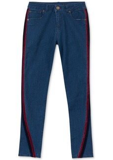 Tommy Hilfiger Big Girls Velvet-Trim Skinny Jeans