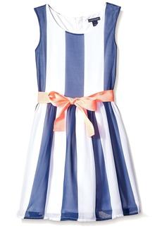 Tommy Hilfiger Big Girls' Vertical Stripe Dress