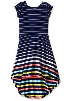 Tommy Hilfiger Big Girls' Yarn Dye Engineer High-Low Dress  Large ()