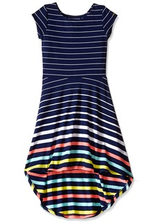 Tommy Hilfiger Big Girls' Yarn Dye Engineer High-Low Dress  Small ()