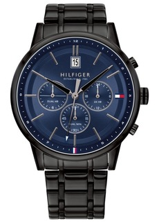 Tommy Hilfiger Black Stainless Steel Bracelet Watch 43mm, Created For Macy's