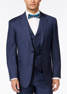 Tommy Hilfiger Blue Sharkskin Classic-Fit Jacket