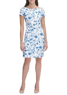 Tommy Hilfiger Bluegrass Floral Scuba Crepe Sheath Dress