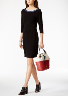 Tommy Hilfiger Boat-Neck Sheath Dress, Only at Macy's