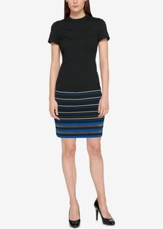 Tommy Hilfiger Border Striped Sheath Dress