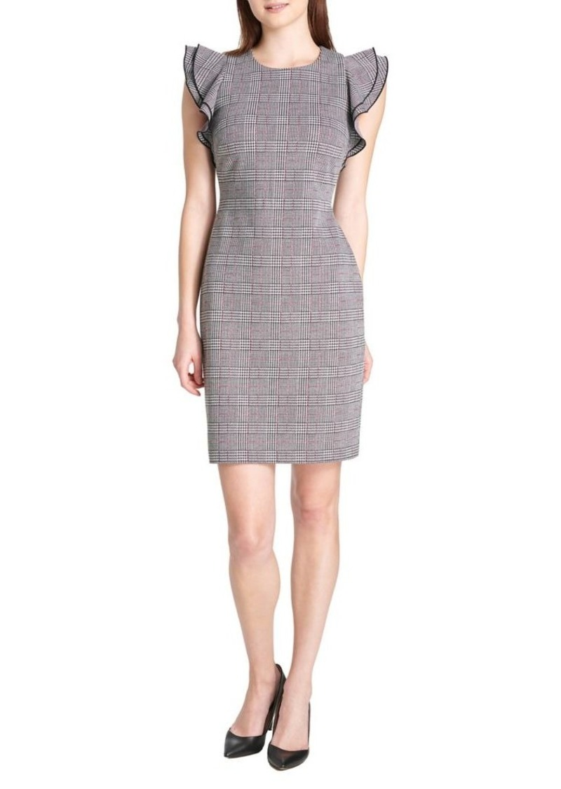 Tommy Hilfiger Boulevard Plaid Mini Sheath Dress