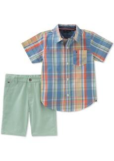 Tommy Hilfiger Boys' 2 Pieces Shirt Shorts Set