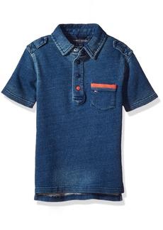 Tommy Hilfiger Boys' Big Adisson Knit Denim Polo