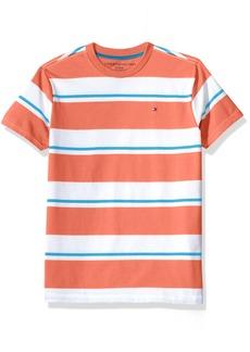 Tommy Hilfiger Boys' Big Short Sleeve Striped Crew-Neck T-Shirt