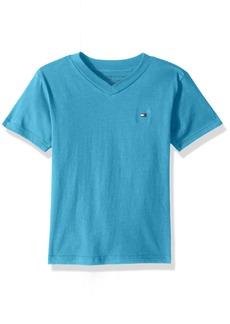 Tommy Hilfiger Boys' Big V Neck Solid Short Sleeve Tee