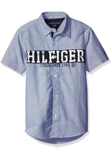 Tommy Hilfiger Big Boys' Garrett Short Sleeve Shirt  Large