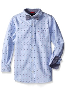 Tommy Hilfiger Boys' Little Crazy Dot Shirt with Bow Tie  6