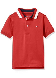 Tommy Hilfiger Boys' Little Short Sleeve Performance Polo with Tipped Collar