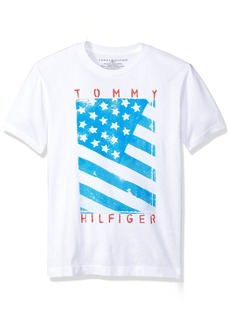 Tommy Hilfiger Big Boys' Neg Flag Tee  Small
