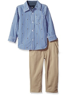 Tommy Hilfiger Boys' Woven Shirt and Pant Set