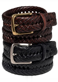 Tommy Hilfiger Braided Leather Belt