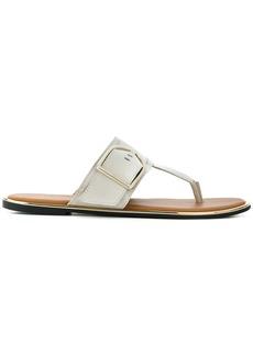 Tommy Hilfiger buckle T-bar sandals - White