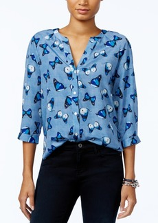 Tommy Hilfiger Butterfly-Print Blouse, Only at Macy's