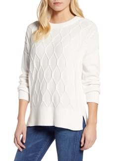 Tommy Hilfiger Cable Knit Sweater with Back Tie