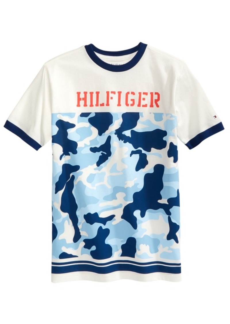 1bc4b1696 Tommy Hilfiger Tommy Hilfiger Camo Cotton T-Shirt, Big Boys | Tshirts